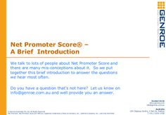 Net Promoter Score - A 10 Slide Introduction