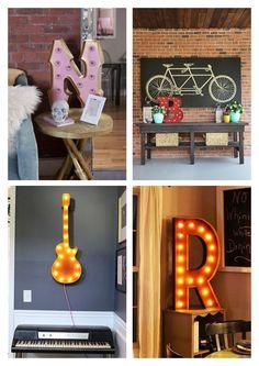 Letras luminosas na decoração