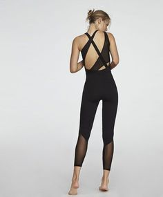 Asymmetric jumpsuit, - Sleeveless, asymmetric jumpsuit in a technical fabric, without zip. - Find more trends in women fashion at Oysho . Yoga Fashion, Sport Fashion, Fitness Fashion, Fashion Outfits, Womens Fashion, Workout Attire, Workout Wear, Workout Jumpsuit, Yoga Wear