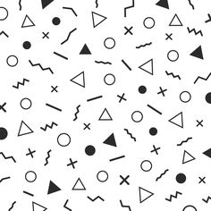 minimalist design background:   minimalist design background - Patterns  minimalist design background - Patterns - 1 black and white minimal patterns, the era 80's - 90's years memphis design, isolated on white background