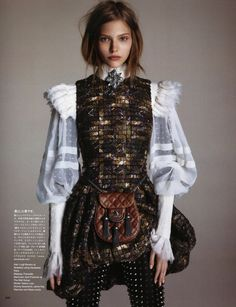 The Way of the Warrior: Sasha Luss by Daniele + Iango for Vogue Japan                                                                                                                                                                                 More