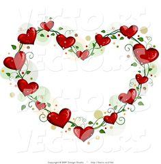 Image detail for -... of Love Heart Vine Border Frame with Dots by BNP Design Studio - #2784