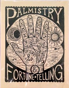 Palm Reading Artwork – Palmistry Chart Woodcut, Fortune Telling Wall Art, Palmistry Print, Occult Art, Goth Art – Home Decor – Hand Art Okkulte Kunst Palm Reading Chart Holzschnitt Print Hand von HorseAndHare Palm Reading Charts, Occult Art, Borders For Paper, Goth Art, Fortune Telling, Hand Art, Border Design, Book Of Shadows, Wicca