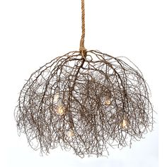 Large Native Tumbleweed Chandelier by Same Tree on Scoutmob Shoppe - Rustic pop to a modern room Light Bulb Chandelier, Driftwood Chandelier, Rustic Chandelier, Bulb Lights, Lamp Light, Chandeliers, Deco Luminaire, Luminaire Design, Rope Lamp