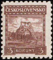 Znaczek: Orava castle (Czechosłowacja) (Castles, landscapes and cities) Mi:CS 290,Sn:CS 136,Yt:CS 237,AFA:CS 130,POF:CS 224