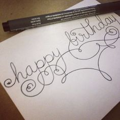 Typography-Happy Birthday-Script