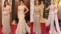 There was a rather conspicuous trend on the 86th Academy Awards red carpet: Women wearing dresses that were very close in color to their own skin tone.