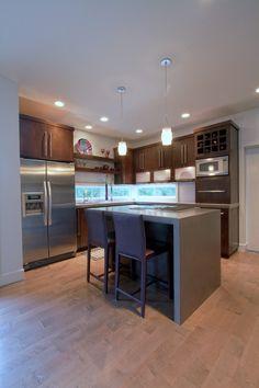 modern kitchen homes kitchens waterfall edge eugene 3 form backsplash bar chair