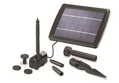 Das Solar Pumpensystem für die Pflanzschale oder den Teich. Sobald Sonnenlicht auf das Solarmodul scheint, fängt die Pumpe an zu arbeiten und fördert Wasser. Das Solarmodul mit Kunststoffrahmen und polikristallinen Solarzellen kann über einen Erdspieß in den Boden gesteckt werden.   eBay!