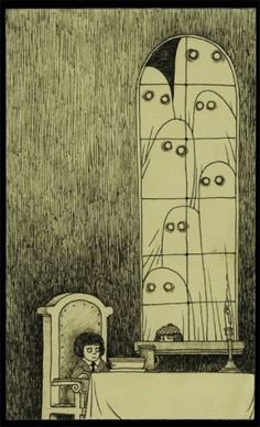 ghosties - love this guy's work.  Does it all on post-it notes.
