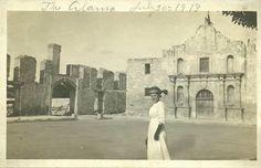 Alamo and Long Barracks ruins, July 1913,,