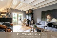 Titta inuti Jannie - De Wemelaer - Titta in i lantlig stil på bondgård - Beddinge, Interior Paint, Interior Design, Home Design, Home And Living, Living Room, Bedroom Furniture, Rustic Chic, Sweet Home
