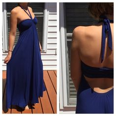 Victoria's Secret Bandeau Maxi Dress S Petite Excellent condition. Cut out back bandeau front with removable halter ties. Victoria's Secret Dresses Maxi