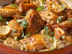 Lemon and Oregano Chicken recipe from Nancy Fuller via Food Network