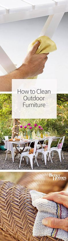 Hereu0027s How To Clean Outdoor Furniture The Right Way To Help Your Favorite  Pieces Last Longer