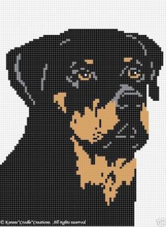 Crochet Patterns Rottweiler Afghan Pattern | eBay- I would do cross stitch