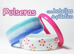 Pulseras hechas con botellas de plástico  http://manualidades.facilisimo.com/blogs/mas-manualidades/pulseras-hechas-con-botellas-de-plastico_1496054.html?aco=1lkv&gpa