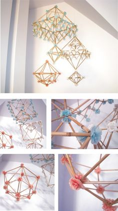 New Crafts, Home Crafts, Diy Projects To Try, Craft Projects, Everything Is Illuminated, Diy Chandelier, Event Organization, Boho Diy, Handmade Ornaments