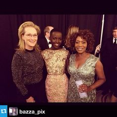| INSTAGRAM | When Meryl met @lupitanyongo and Alfre Woodard at the Palm Springs International Film Festival! #PSIFF #12YearsASlave #nbd