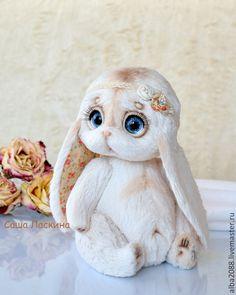 заюшка Настенька - бежевый,желтый,голубой,коричневый,зая,заюшка,заяц,зайка