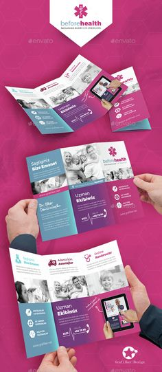 Mobile App Trifold Brochure Vol  Brochures Mobile App And Psd