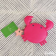 kate spade crab coin purse, BNWT!   kate spade crab coin purse, BNWT!  this cute little guy is unused and brand new with tags! From the make a splash collection! No trades or PayPal!  kate spade Bags