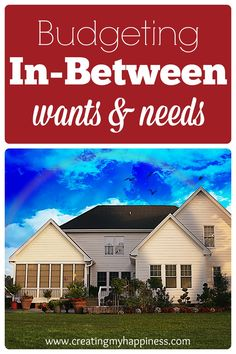 """Do you have a budget that's just not working even though you've cut out all your """"wants""""? Use this free printable to get a big picture look at your wants and needs, then start working on the space in-between."""