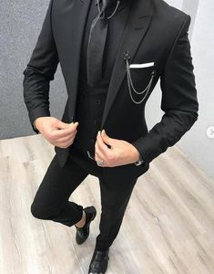 Product: Slim-Fit Vest Suit Color Code: Black Size: Suit Material: wool, poly Machine Washable: No Fitting: Slim-fit Package Include: Coat, Vest and Pants Only Source by gentwith Tuxedo Wedding, Wedding Men, Black Suit Wedding, Wedding Suits For Men, Prom Tuxedo, Mens Dress Outfits, Men Dress, Dress Shoes, Shoes Heels