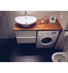 Hexagon duży, czarny, matowy- płytki ceramiczne/mozaika| sklep RawDecor.pl Vanity, Bathroom, Home Decor, Dressing Tables, Washroom, Powder Room, Decoration Home, Room Decor, Vanity Set