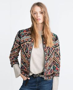 Image 1 of EMBROIDERED JACKET from Zara