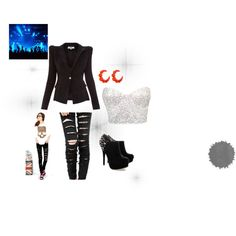 """""""giving a rock concert"""" by helena-anastasia on Polyvore"""