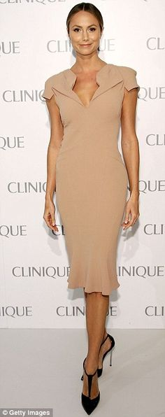 Stacy Keibler in Zac Posen @ a Clinique event