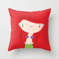 Ariel Throw Pillow by Maria Jose Da Luz - $20.00