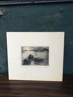 1980s Etching of Northwest Coastal Scene Artist by oldfangledcool