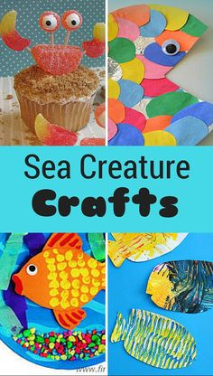 15 Sea Creatures for Kids to Make | A collection of fun under the sea activities for the kids this summer!