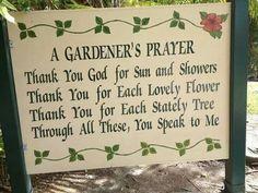 A gardener's prayer
