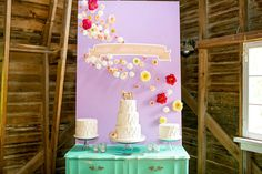 Simple white icing with rainbow cake inside; arranged against a simple and colourful backdrop // Colorful Glitter Unicorn Wedding: Janet + Jon Wedding Desserts, Wedding Cakes, Wedding Decorations, Quirky Wedding, Green Wedding, Wedding Stuff, Cake Table Backdrop, Brithday Cake, Butterfly Garden Party