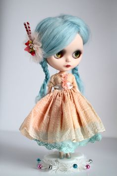Mab Graves - Her Waifs and Strays — Lolita Lollipop - custom ooak Blythe art doll by Mab Graves