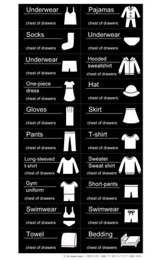 Simple Home Decor Things to Consider Wardrobe Organisation, Closet Organization, Organizing, Closet Labels, Laundry Symbols, Stencil, Kid Closet, Printable Labels, Blog Entry