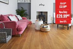 Home Choice Engineered European Select Oak Flooring x Honey Piccolo Lacquered Wood Flooring Uk, Real Wood Floors, Engineered Wood Floors, Feature Wall Living Room, Living Room Decor, Dining Room, Flat Interior Design, Aleta, Home