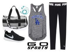 """Go Sporty!"" by anisimova-i ❤ liked on Polyvore featuring NIKE and FOSSIL"