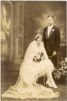 1929 newlyweds Edna and Clarence