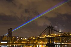 35 mile long lasers over new york for tribute to hurricane sandy victims