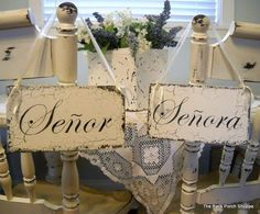 SENOR / SENORA 9 x 5 Chair Signs Visit My by thebackporchshoppe, $29.95