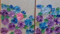 折り紙の紫陽花