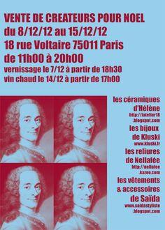 vente createur   8 au 15 dec 2012  paris 11 eme