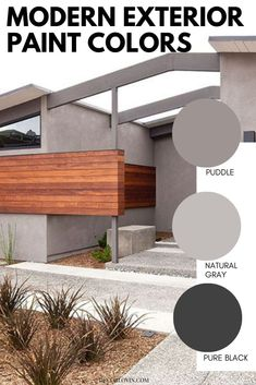 The best modern exterior paint color stories to paint your home's exterior. Pick from these great color combinations. Best Exterior Paint, Exterior Paint Colors, Modern Exterior, Exterior Paint Color Combinations, Modern Color Schemes, Color Stories, Modern Architecture, Traditional, House