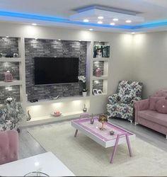 Home interior design Small House Interior Design, House Design, Deco Tv, Tv Wall Design, Design Room, Design Bathroom, Tv Wall Decor, Living Room Tv, Affordable Home Decor