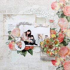 you & me~My Creative Scrapbook Limited Edition Kit March~ - 2014 Prima Something Blue collection