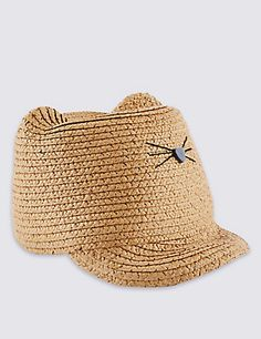 Straw Peak Front Hat (5-14 Years) Clothing